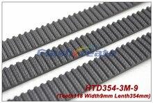 5 個 HTD3M ベルト 354 3 メートル 9 長さ 354 ミリメートル幅 9 ミリメートル 118 歯 3 メートルタイミングベルトゴム閉ループベルト 354 3 m 送料無料