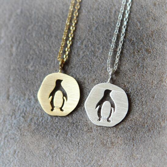 Daisies new arrival gold silver cutout penguin pendant necklace cute daisies new arrival gold silver cutout penguin pendant necklace cute animal penguin collier best friend gift statement necklace in pendant necklaces from aloadofball Choice Image