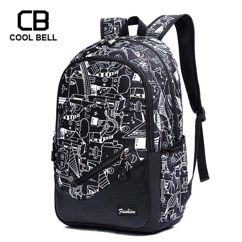 Waterproof Oxford Fabric School Backpacks For Boys Print School Bags For Girls 17 Inch Laptop Backpack For Teenagers Schoolbag
