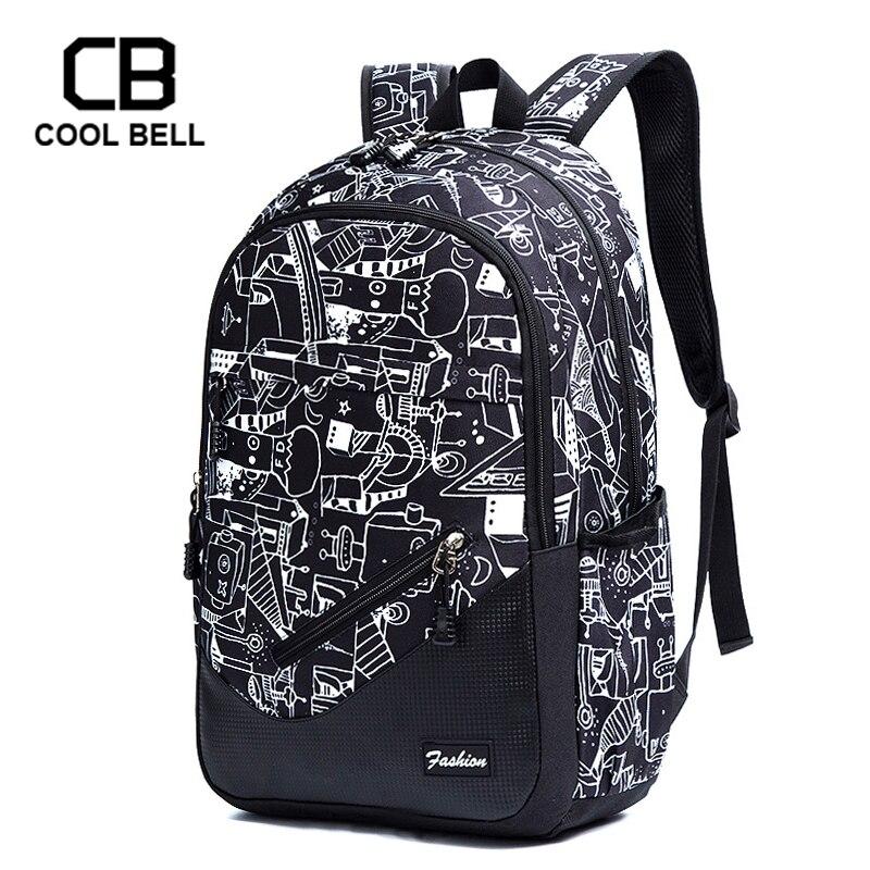 Waterproof Oxford Fabric School Backpacks For Boys Print School Bags For Girls 17 Inch Laptop Backpack For Teenagers Schoolbag