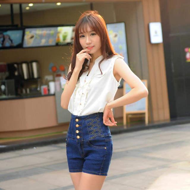 af07d8cc718 placeholder 2019 Summer Shorts Women Female Korean Slim High Waist Denim  Shorts Sexy High Quality Show Silm