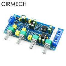 CIRMECH 2019 NE5532 OP AMP HIFI เครื่องขยายเสียง Preamplifier Volume TONE EQ ควบคุมอิเล็กทรอนิกส์ชุด