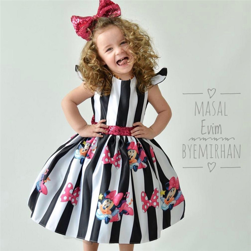 Summer Baby Girls Dress Minnie Mouse Dresses For Girls Princess Dress Birthday Party Children Clothes Kids Costume 2018