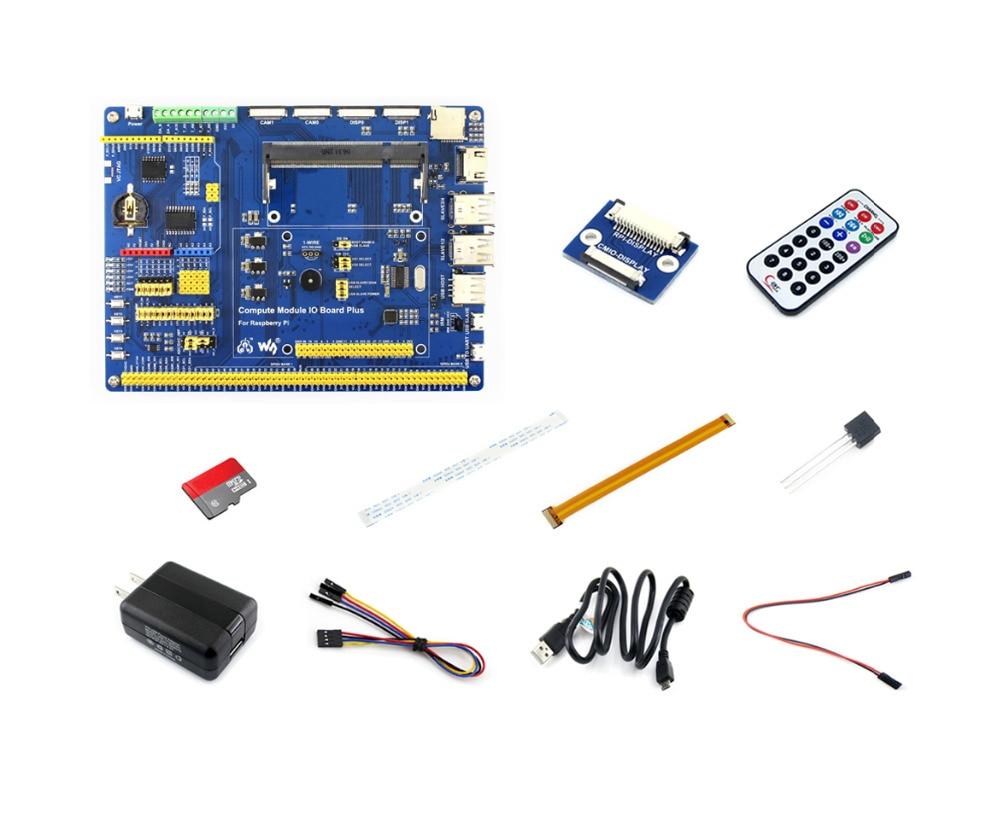 Module de calcul Raspberry Pi paquet d'accessoires 3 Lite Type A (pas de CM3L) avec adaptateur d'alimentation DS18B20 carte Micro SD câble de caméra Pi zéro