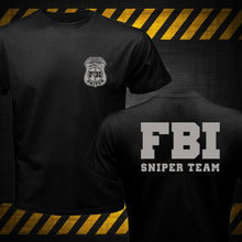 2019 Fashion Double Side New Fbi Sniper Team T-Shirt Unisex Tee