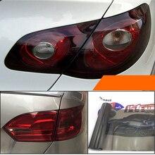 30 x 120cm Car Styling Deep Grey Headlight Sticker Tail Brake Light Tint Vinyl Wrap Film Sheet Cover Sticker Protection цена