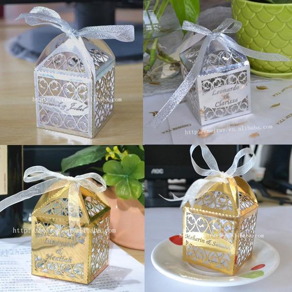 Laserschneiden Kreative Goldene Silber Band Gastgeschenke Hochzeit