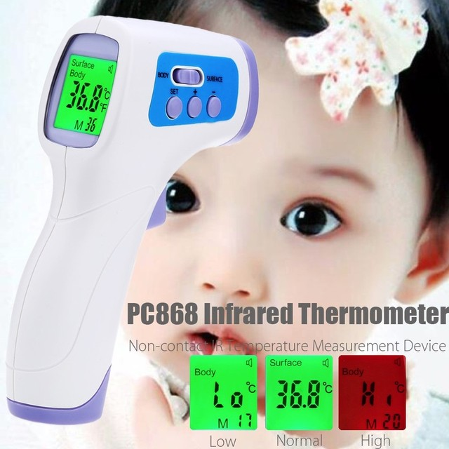 2016 New Muti-fuction Baby/Adult Infrared Babies Thermometer Non-contact Forehead Body Digital Termometro Bady Thermometer Gu