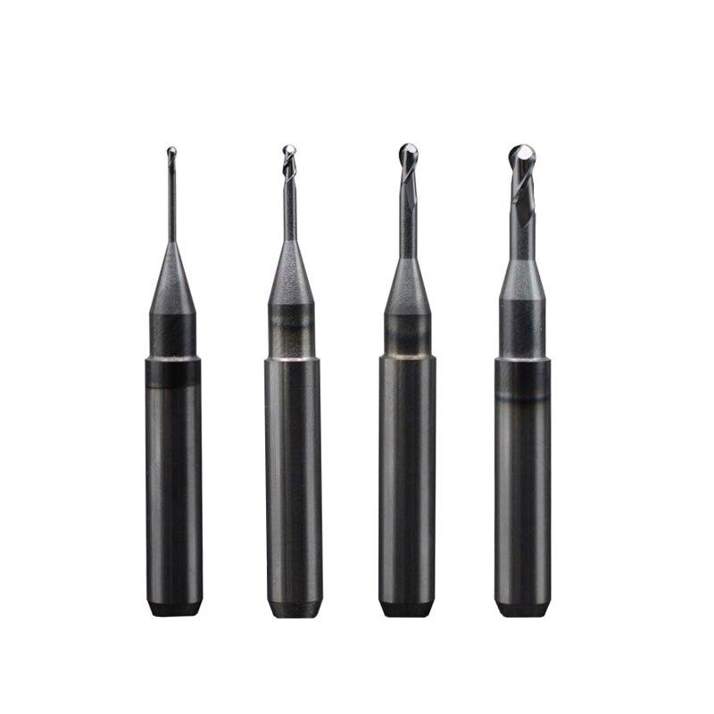 Arrum CAD/CAM Burs Length=50mm Shank 6 Mm Dental Milling Cutters Metal Block End Mills