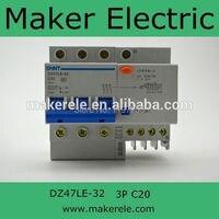Earth Leakage Circuit Breaker DZ47LE 32 3P N C20