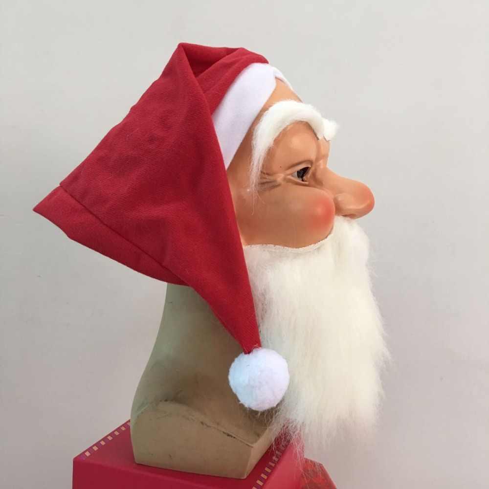 Игрушечные лошадки реалистичные открытый орнамент рождественских маска Санта Клаус Костюм Забавный супер мягкий маска Санта-Клауса парик б