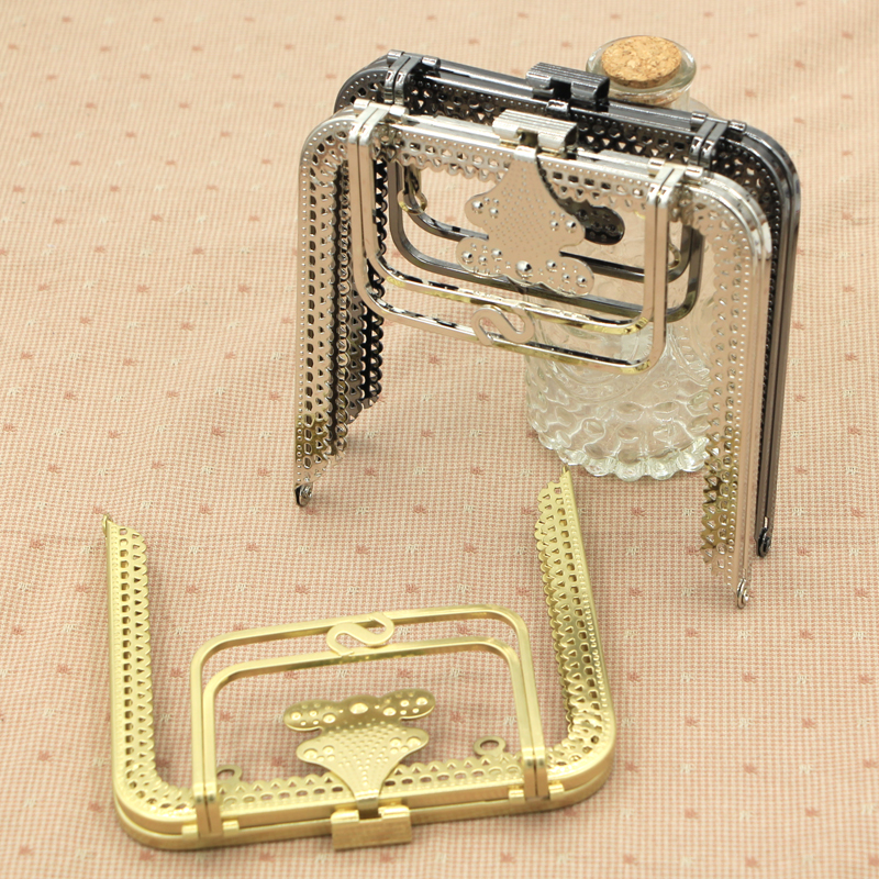 Bag Parts & Accessories Hook Bag Hanger Belt Buckle Botton Handle Lock Ring Chain Antique Brass Sewing Pearl White Clasp Metal Purse Frame Bag Handle