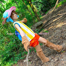 Hot Anime One Piece Tony Tony Chopper Cosplay Costume Cosplay Full Set tops+gloves+pants+foot covers one free shipping