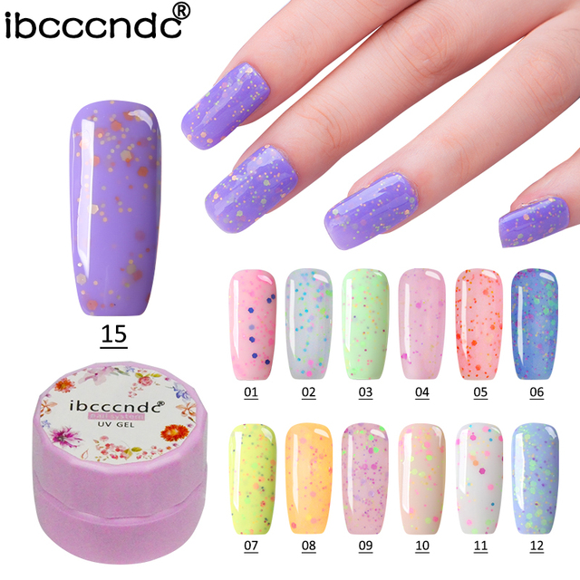 Ibcccndc 7ml UV LED Gel 24 Fresh Colors Cheese Gel Manicure Nail Kit ...