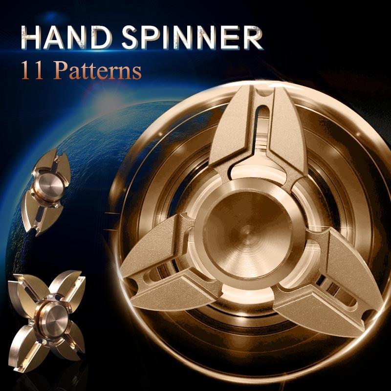SuperDeals - Tri-Spinner EDC Fidget Toy Metal Brass Hand Spinner For ...
