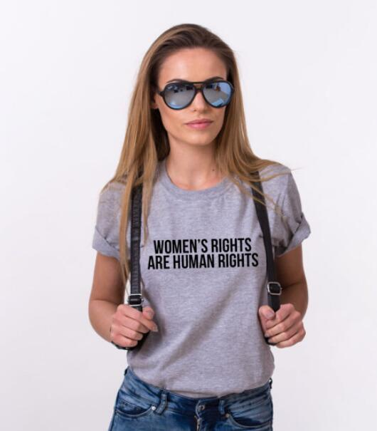 2d29406f96c9 Womens Right are Human Rights T-Shirt High Quality Cotton Tee Casual  Hipster Crewneck Outfits