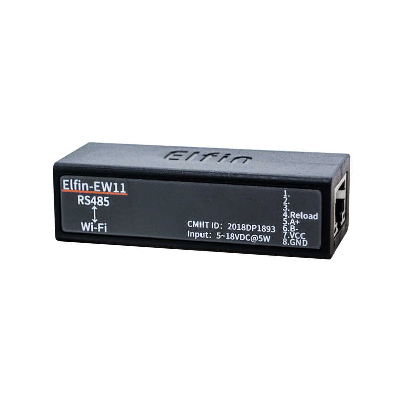 Широкий DC Вход 5 ~ 18VDC Elfin-EW11 передачи данных через Wi-Fi Поддержка RS232/RS485 к Ethernet/Wi-Fi преобразования