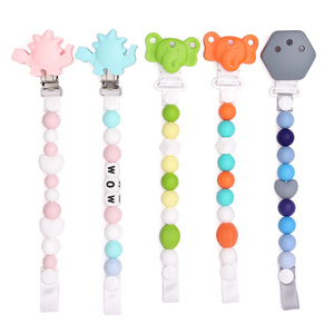 Image 5 - Chenkai 10PCS BPA Free Silicone Flower Smile Face Pacifier Dummy Teether Holder Clips DIY Star Baby Nursing Toy Clip Accessories