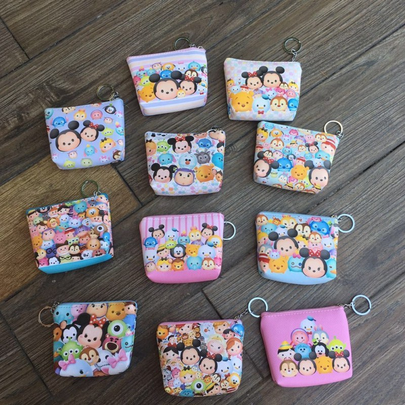 Official Website Ivyye 1pcs Mickey Stitch Anime Plush Card Holder Pu Cartoon Credit Id Bags Coin Bus Card Wallet Kid Girls Gifts New Coin Purses & Holders
