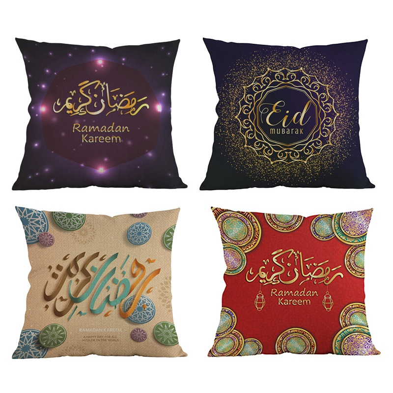 Ramadan s For Home Islamic Eid Mubarak Throw Pillow Cases Muslim Mosque Decorative Cushion