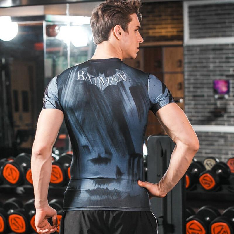 Black Panther Mens T-Shirts 3D printing t shirt Batman Avengers Fitness Gym Crossfit Training Exercise Sweatshirt Tops tees