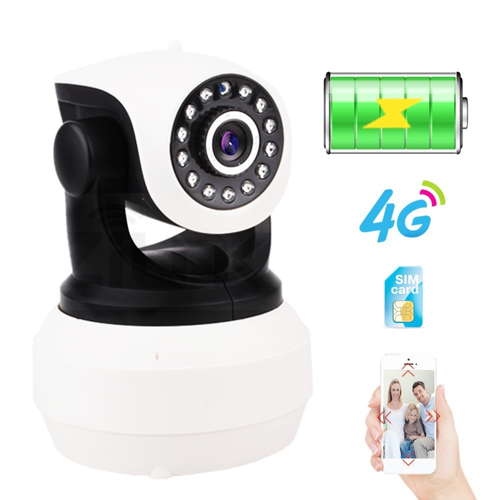 IP Camera Built in Battery Video Surveillance 3G 4G Sim Card 720P 960P 1080P HD Home Security Wireless WIFI Camera Infrared SD