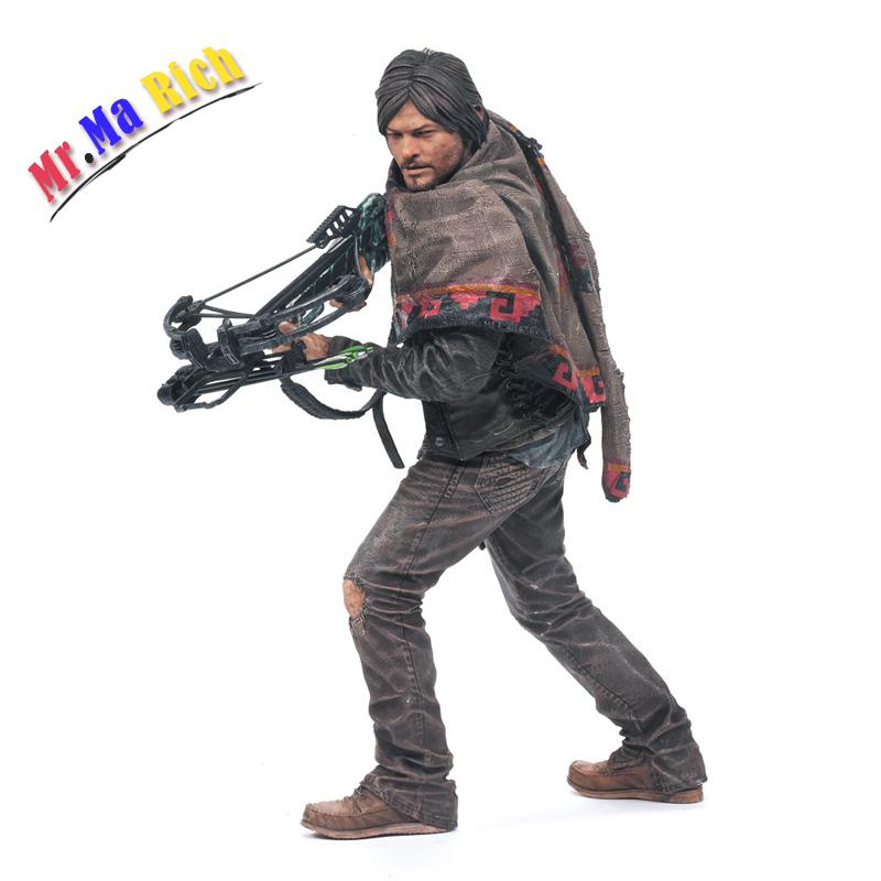 The Walking Dead Pvc Action Figure Daryl Daryl Collectible Model Figures Toys Gift [new] the walking dead zombie head action figure model resin crystal car ornament home desk decoration furnishing articles gift