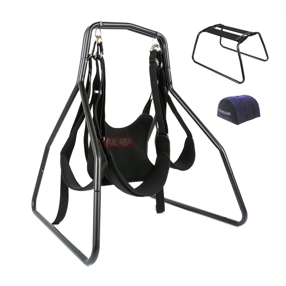 TOUGHAGE Sex Swing Chair Pillow +Adjustable Restraints Fetish Sex Position Bondage Nylon+Sponge+Metal Sex Furniture For Couples toughage adult sex furnitures knight love sex chair safety handrail flexible strong sex toys couples sexual intercourse position