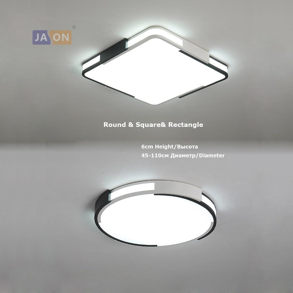 Practical Led Modern Iron Acryl 5cm Thin Square Black White Gold Silver Led Chandelier Chandelier Lighting Led Light Led Lamp For Foyer Chandeliers Lights & Lighting