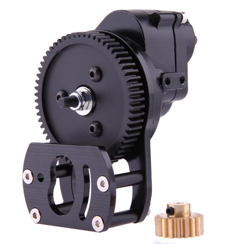 RC Crawler SCX10 Black Transmission Center Gearbox with Motor Base For Axial SCX10 1/10 RC Crawler Accessories 1pc black 1 10 rc crawler scx10 metal aluminum transmission center gearbox for 1 10 axial scx10 gear box