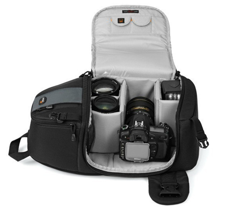 цена на Fast shipping Genuine Lowepro SlingShot 102 AW DSLR Camera Photo Sling Shoulder Bag with all Weather Cover