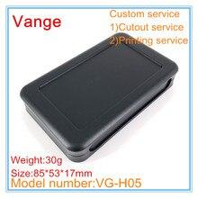 5 шт./лот электрическая распределительная коробка ABS пластик Материал страховочный кожух случае 85*53*17 мм с подножкой для портативный устройства
