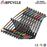 Spcycle 29er Carbon Mountain Bike Frame 27.5er Carbon MTB Bicycle Frame 142*12mm Thru Axle & 135*9mm QR 650B MTB Bicycle Frame