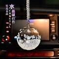 O líder do carro ornamentos espelho de jóias pingente pingente de alta-grade bola de cristal carro após carro ornamentos relógio melodia-styling