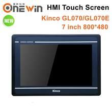 Kinco tela sensível ao toque, atualização de interface de máquina humana gl070 gl070e hmi 7 polegadas 800*480 ethernet 1 usb mt4434te mt4434t