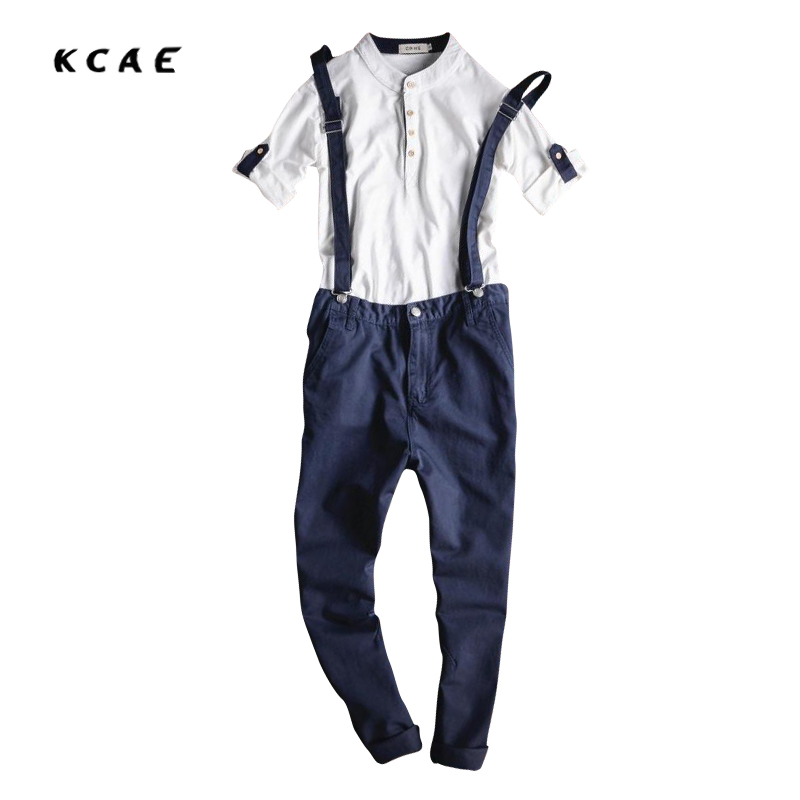 New Fashion Mens Blue Denim Overalls Male Casual Summer Jeans Detachable Cargo Trousers Bib Pants Jumpsuits For Man Ankle Length denim overalls male suspenders front pockets men s ripped jeans casual hole blue bib jeans boyfriend jeans jumpsuit or04