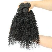 3B 3C странный вьющиеся волосы девственницы 100% человеческих Инструменты для завивки волос натуральный Цвет бразильской Девы пучки волос пле