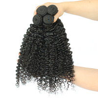 3B 3C Kinky Curly Virgin Hair Extension 100% Human Hair Weaving Natural Color Brazilian Virgin Hair Weave Bundles CARA