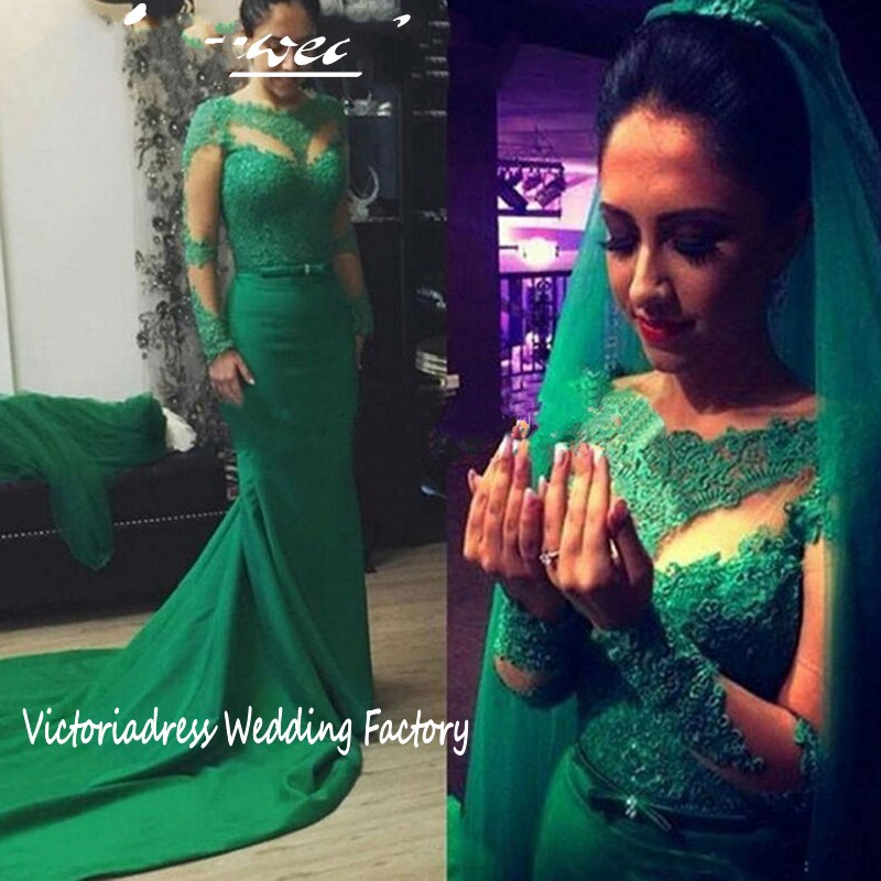 Popular Emerald Green Wedding Dresses-Buy Cheap Emerald Green ...