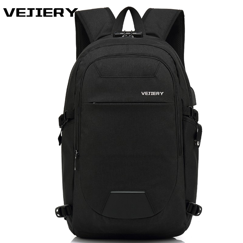 VEJIERY Anti-thief USB Recharging Men's Backpacks Bolsa Mochila for Laptop 15 Inch Notebook Computer Bags Male School Rucksack 15 inch backpacks anti thief mochila for men women large capacity laptop computer bags for school travel rucksack shoulder bag