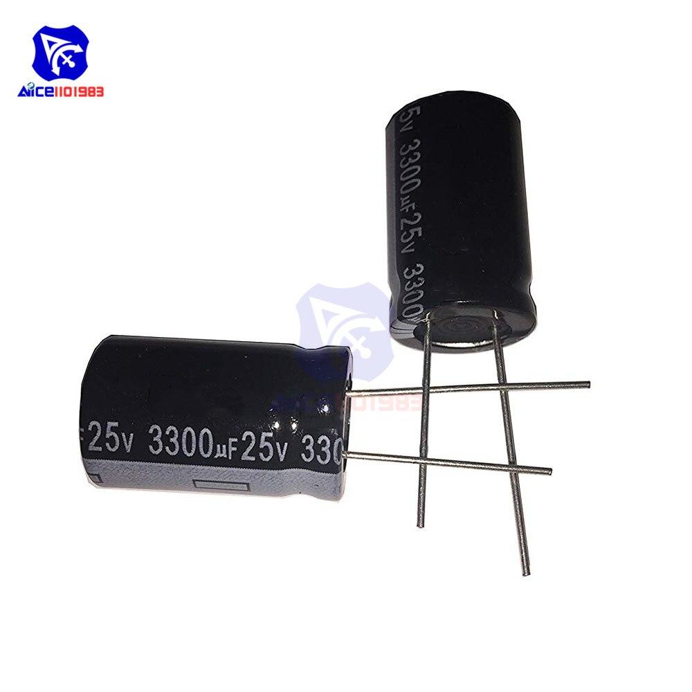 10PCS 3300uF 25V 105C Radial Electrolytic Capacitors 16mm*25mm