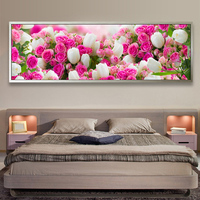 Bedside Decoration 5D DIY Tulips Flowers Picture Diamond Painting Cross Stitch Diamond Embroidery Mosaic Pattern Wall