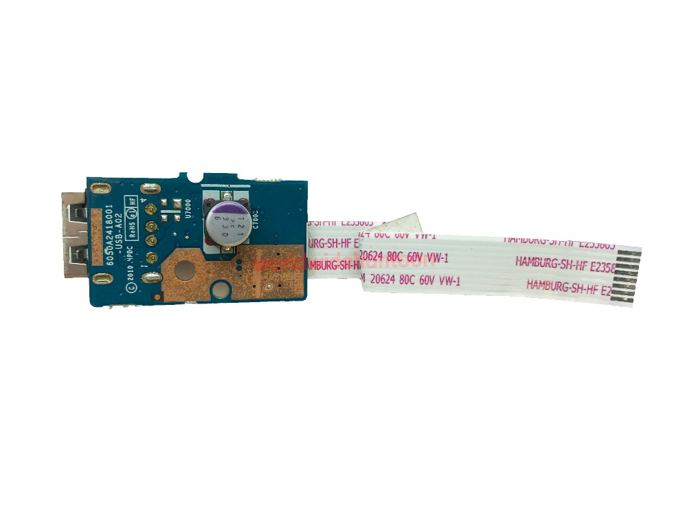 USB Port Board with Cable For HP Pavilion G6 G6-1000 Series Motherboard Part Number 6050A2418001 100% Work & 90 Days Warranty soncci lcd screen display cable for hp pavilion g6 g6 1000 lvds cable repair parts for hp g6 g6 1000 lcd video cable