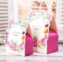 romantic garden candy gift boxes 50pcs wedding party favor box mini wedding box party candy box. beautiful ideas. Home Design Ideas