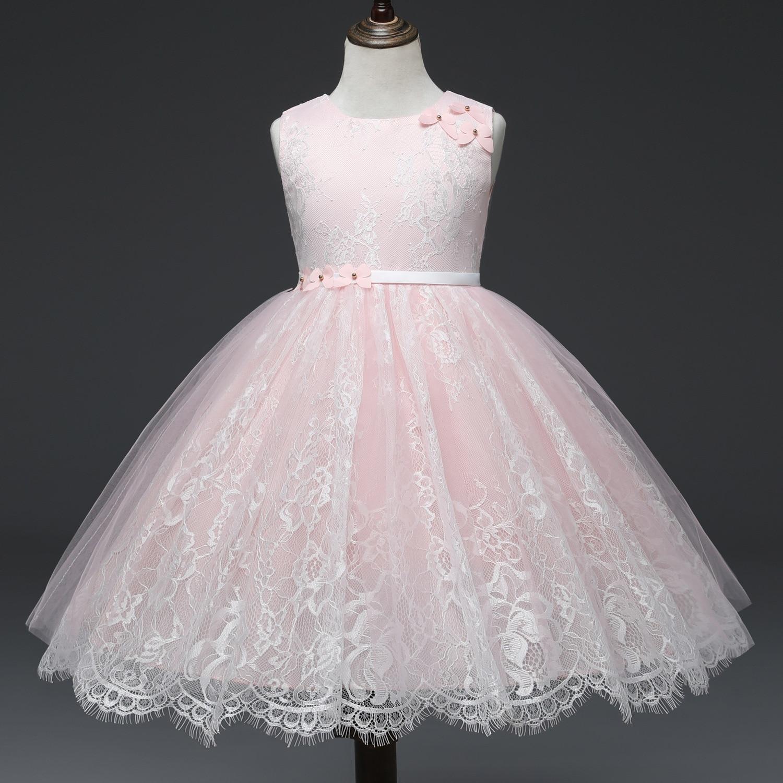 156491c2a9494 Princess Flower Girl Dress Summer Wedding Birthday Party Tutu Dresses for  Girls Children Costume Teenager Prom Pink Purple 2019