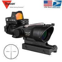 Acog 4x32 fuente de fibra roja Alcance de fibra Real W/Rmr Micro punto rojo vista marcado versión negro elevador instrumento óptico