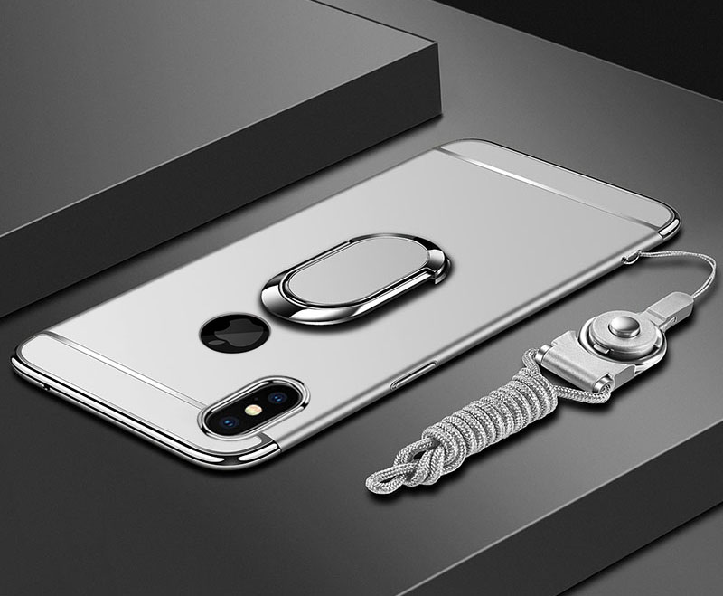 HTB1BHzBOQvoK1RjSZFwq6AiCFXaI EPENA Ultra Thin For iphone 11 pro Xs Max XR Plating Hard Pc Cover 3 In 1 Case For iphone x 7 8 6S 6 Plus Case phone Ring Lanyard