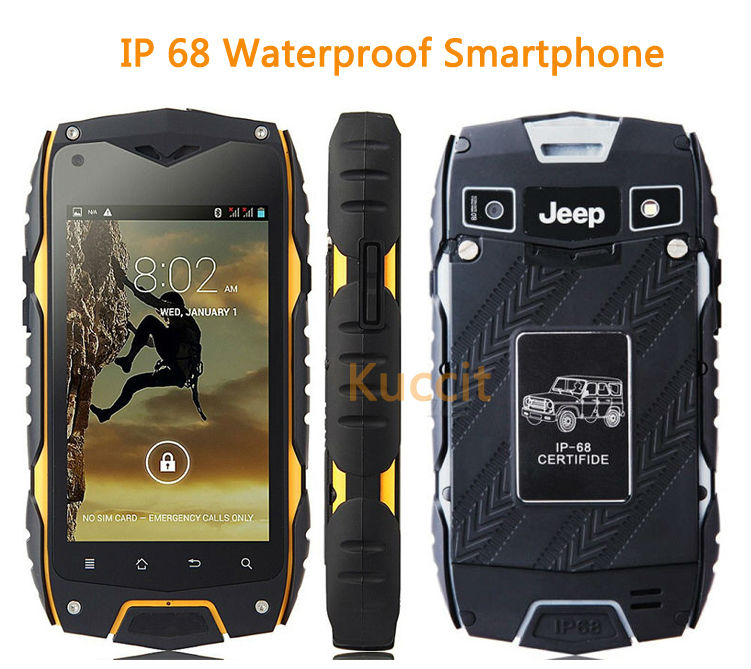 original Jeep Z6+ MTK6582 Quad Core 1GB RAM 16GB ROM rugged Smartphone IP68 Waterproof phone GPS Shockproof Android MANN ZUG 3
