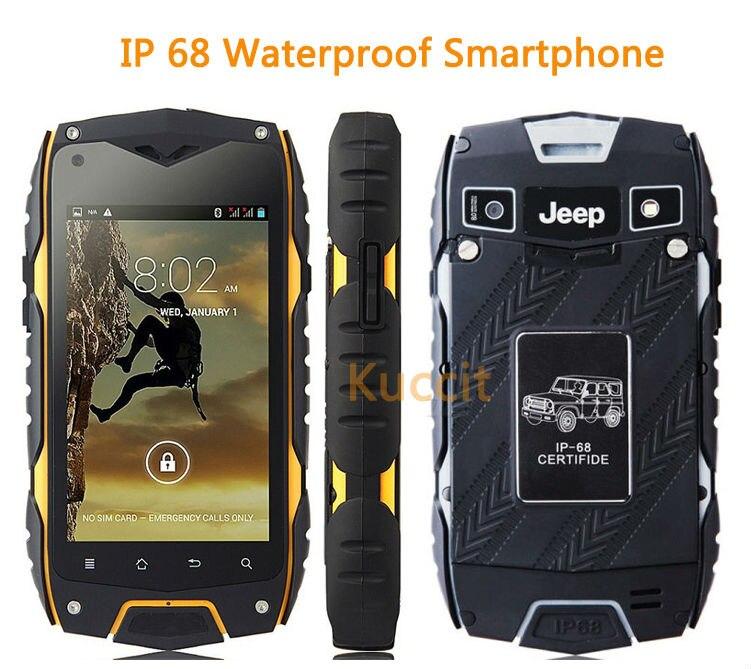 original Jeep Z6+ MTK6582 Quad Core 1GB RAM 16GB ROM rugged Smartphone IP68 Waterproof phone GPS Shockproof Android MANN ZUG 3