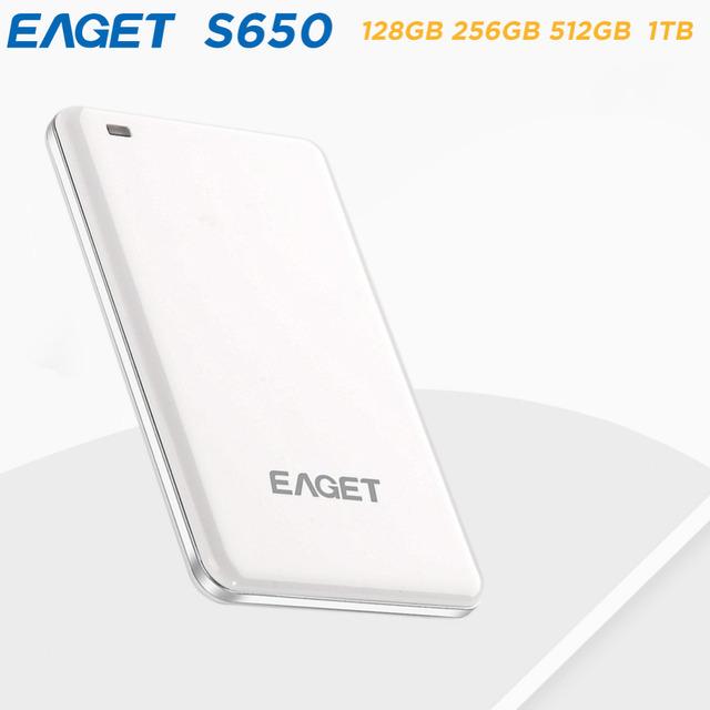 EAGET S650 Alta Velocidade USB3.0 Disco Rígido Externo de 1.8 polegadas 128 GB 256 GB 512 GB 1 TB para o Desktop Laptop Portátil Luz Criptografia SSD